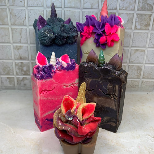 Unicorn Royal Family Fun Handmade Whimsical Vegan Artisan Soap