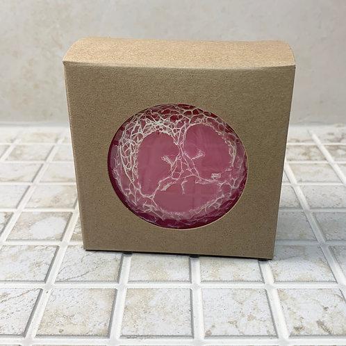 Strawberry & Cream Loofah Crystal Soap