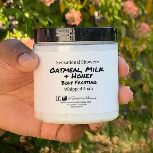 Oatmeal Milk & Honey Body Frosting, Whipped Soap