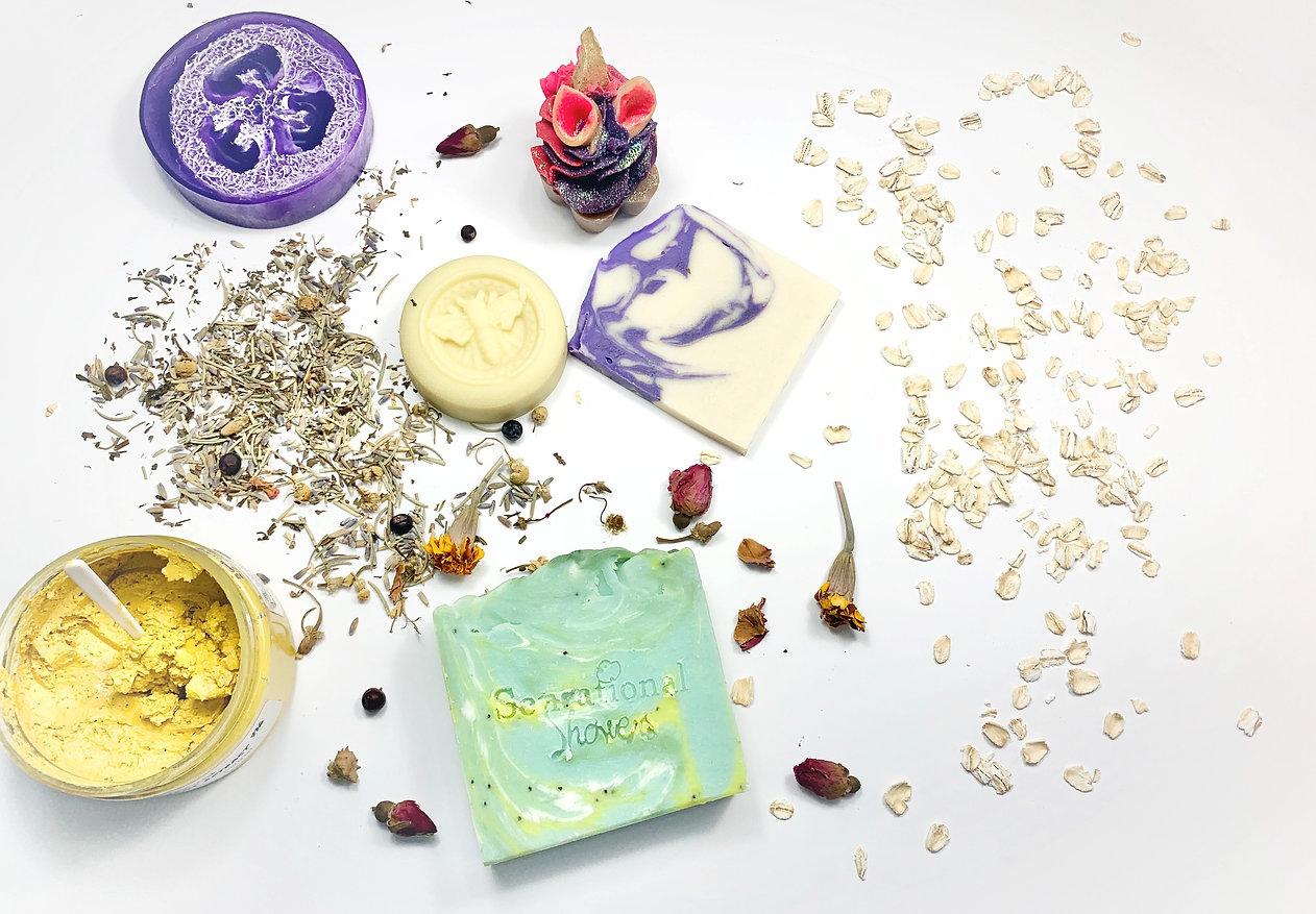 Soaps, mask, lotion bar
