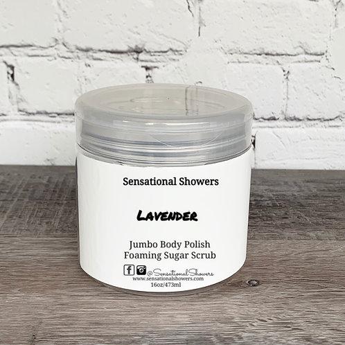 Jumbo Lavender Body Polish, Whipped Soap Sugar Scrub