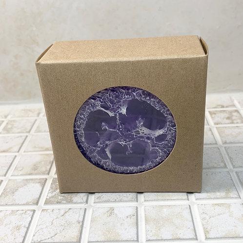 Vanilla Lavender Loofah Crystal Soap