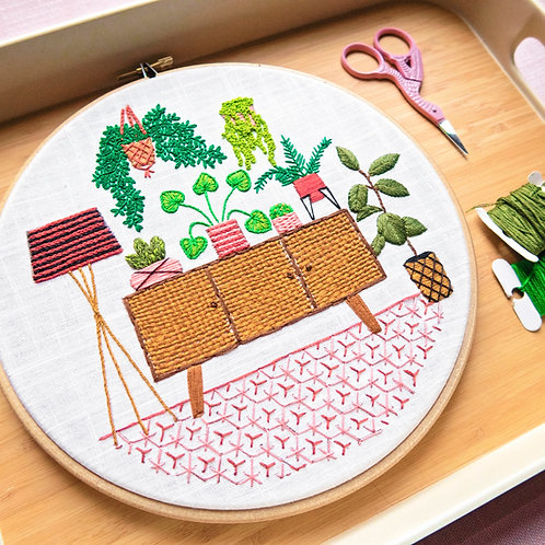 Sideboard Jungle Embroidery Kit