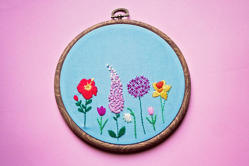 Spring - Floral Embroidery Pattern