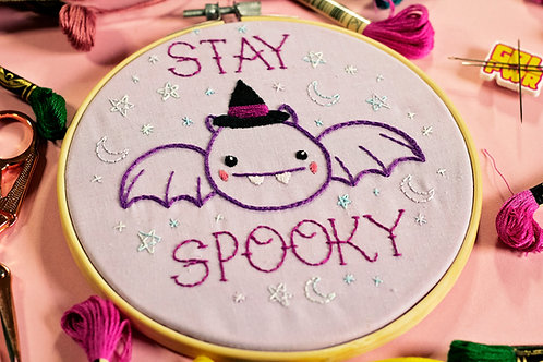 Stay Spooky Embroidery Pattern