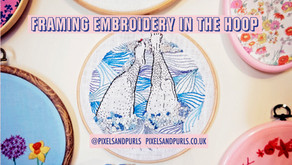 How To Frame and Finish Your Embroidery In The Hoop