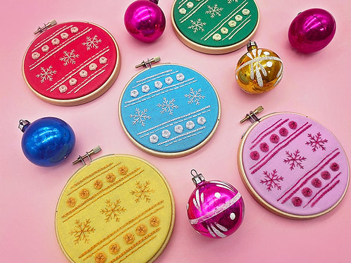 Christmas Bauble Embroidery Kit
