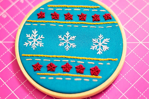 Christmas Bauble Hand Embroidery Pattern - Perfect For Beginners!