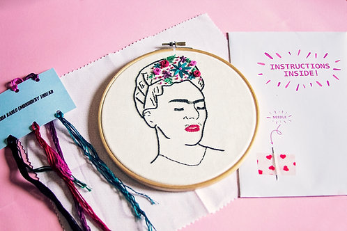 Frida Kahlo Embroidery Kit