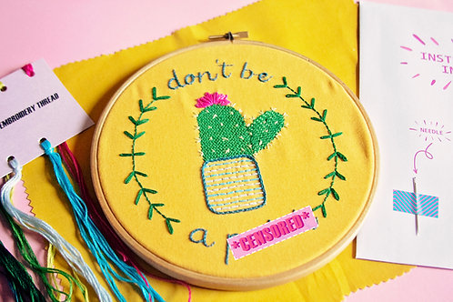 Sassy Cactus Embroidery Kit