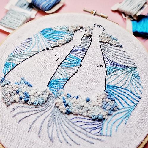Bath Legs Embroidery Kit
