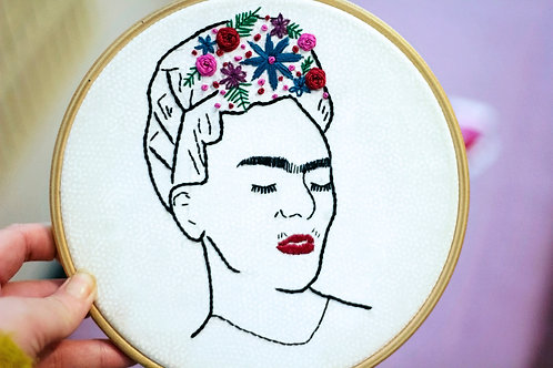 Frida Hand Embroidery Pattern