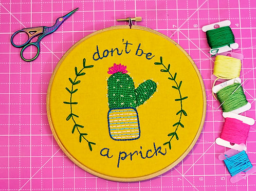 Cactus Hand Embroidery Pattern - Perfect For Beginners!