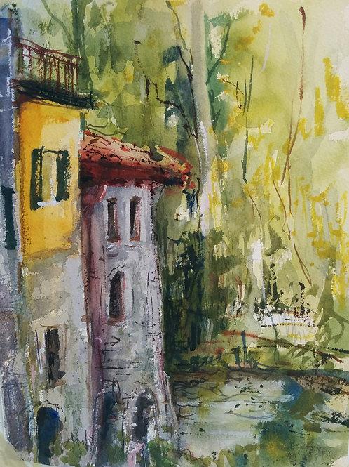 Zakon, Tamara   -   The Watermill in Posara, Tuscany
