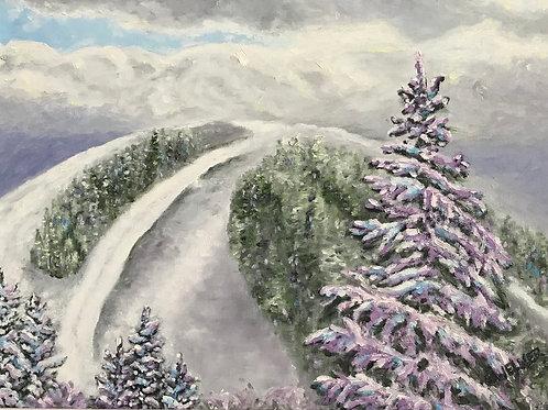 Sharon Welner - Fog over the Lowell Thomas, Mont-Tremblant