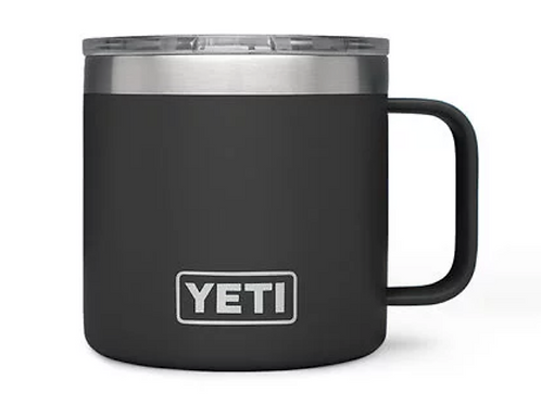 YETI Rambler 14 oz Mug.  $7.50 included in the cost for Shipping.