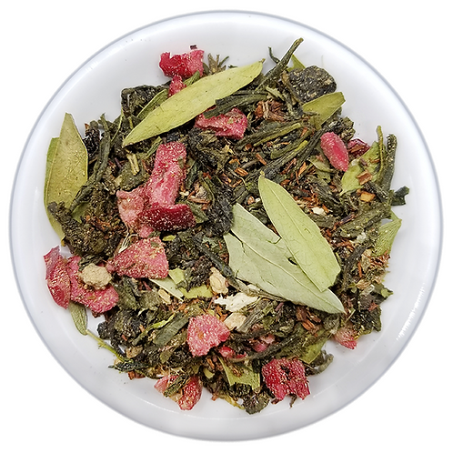 Slimming Tea, Green tea and senna leaf.  Assists in digestion & weight loss.