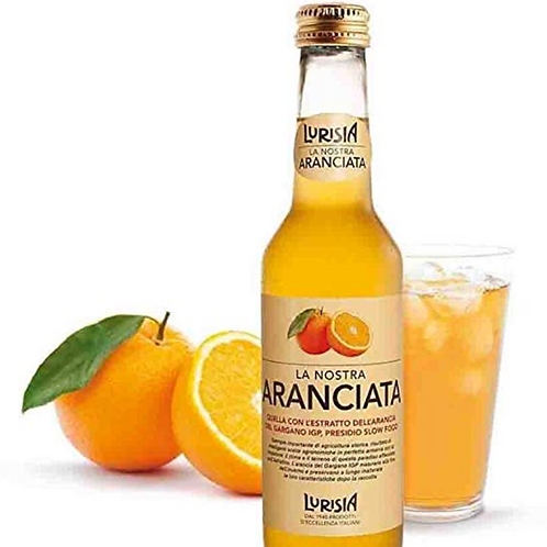 Lurisia La Nostra Aranciata, 9.3 oz. Bottle ,4 Pack Healthy Sodas