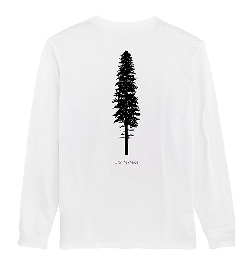 Afect long sleeve backprint white sustainable unisex streetwear
