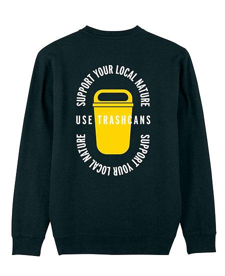 Afect sweatshirt backprint black sustainable unisex streetwear