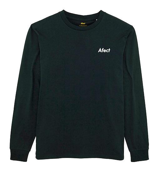 Afect long sleeve black sustainable unisex streetwear