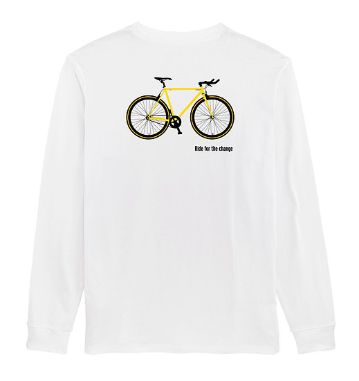 Afect long sleeve backprint white sustainable unisex streetwear
