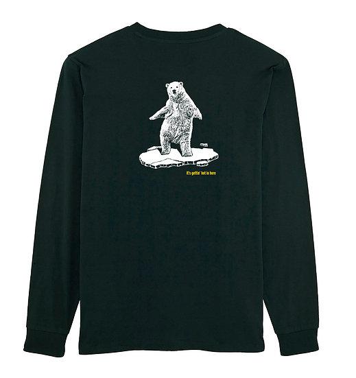 Afect long sleeve backprint black sustainable unisex streetwear
