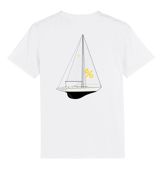 Afect t-shirt backprint white sustainable unisex streetwear