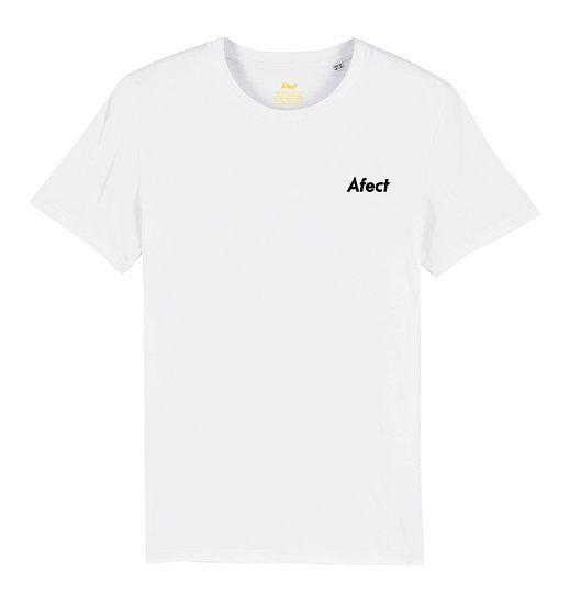 Afect t-shirt white sustainable unisex streetwear