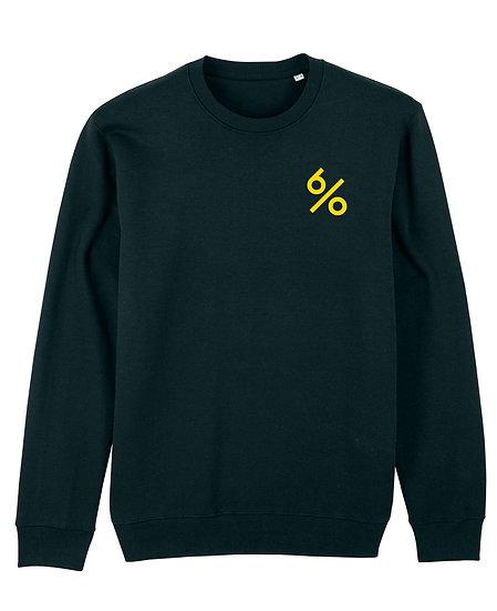 Afect sweatshirt black sustainable unisex streetwear