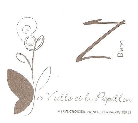 << Z Blanc >>  La Vrille et Le Papillon, 750ml