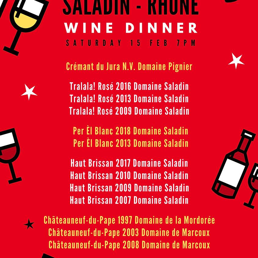 Saladin-Rhône Wine Event with Canto Fare