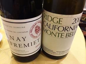 Volnay Fremiet d'Angerville and Monte Bello Chardonnay