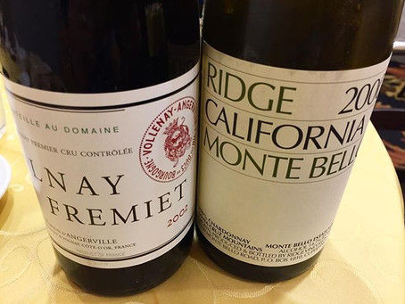 Volnay Fremiet d'Angerville and Monte Bello Chardonnay