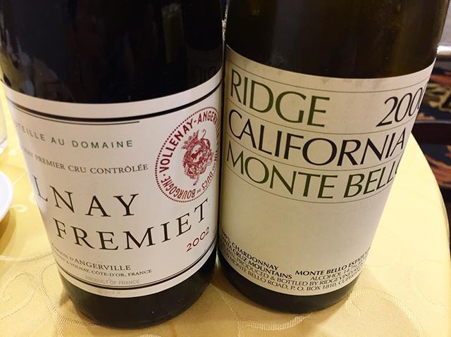 Volnay Fremiet and Monte Bello Chardonnay