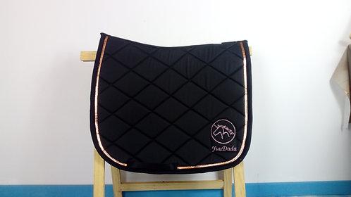 YuuDada - Tapis de selle Dressage Classique noir et rose gold
