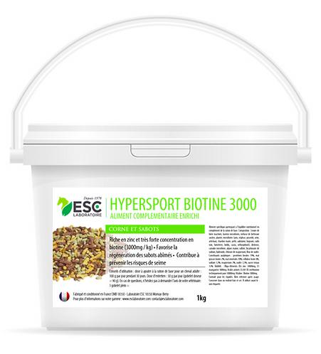 ESC Laboratoires - Hypersport biotine 3000 - Biotine concentrée
