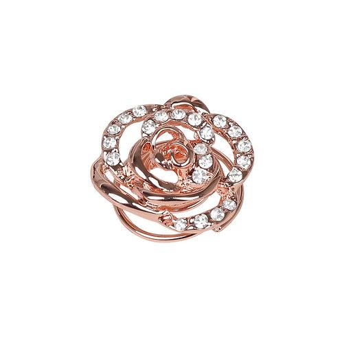 SD Design - Broche pour chignon en forme de rose, rose gold. G-139