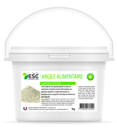 ESC Laboratoire - Argile alimentaire - digestion cheval