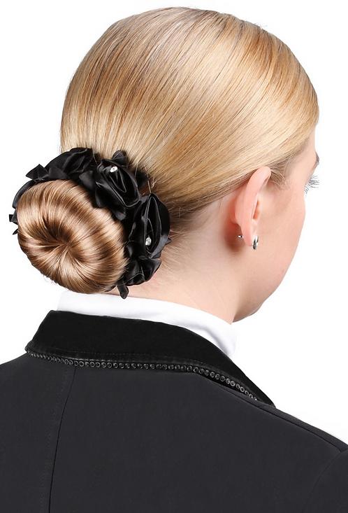 SD Design - Élastique pour chignon avec roses et strass. J-151