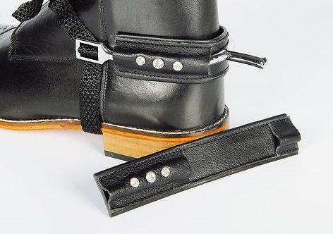 Harry's Horse - Protège-éperons en cuir avec strass
