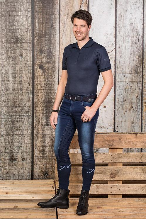 Harry's Horse - Pantalon d'équitation Liciano Denim Full Grip (homme)