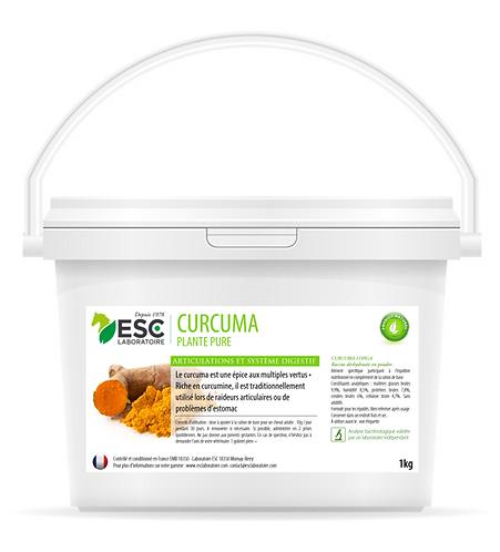 ESC Laboratoire - Curcuma - articulations et digestion cheval - Plante pure