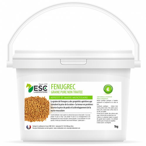 ESC Laboratoire - Fenugrec - Etat et muscles cheval