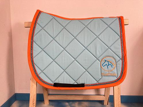YuuDada - Tapis de selle C.S.O. Classique bleu clair et orange