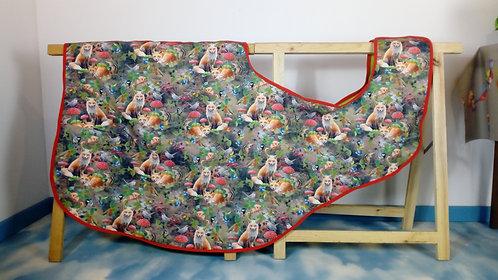 YuuDada - Couvre-reins softshell motifs renards