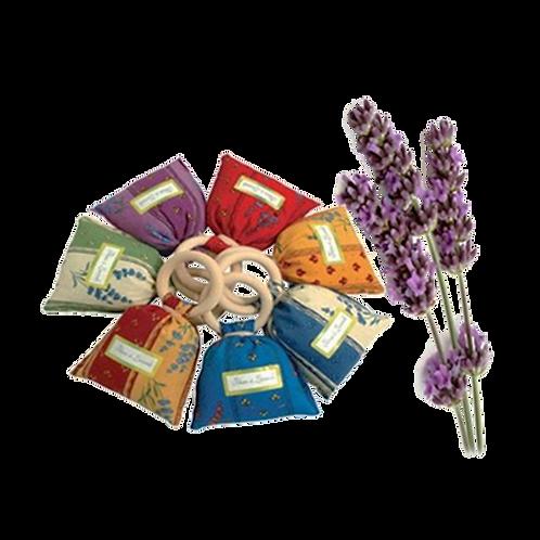 Lavendel geurzakje 25 gram - met houten ring