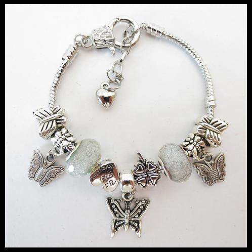Armband Vlinder- zilverkleurig
