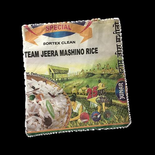 Draagtas van gerecyclede textiel rijstzakken