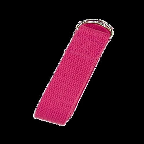 Yoga ondersteuningsriem D-ring - roze